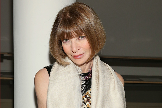 NEW YORK, NY - FEBRUARY 13:  Vogue Editor Anna Wintour attends Wes Gordon runway show during MADE Fashion Week Fall 2015 at Milk Studios on February 13, 2015 in New York City.  (Photo by Mireya Acierto/Getty Images)